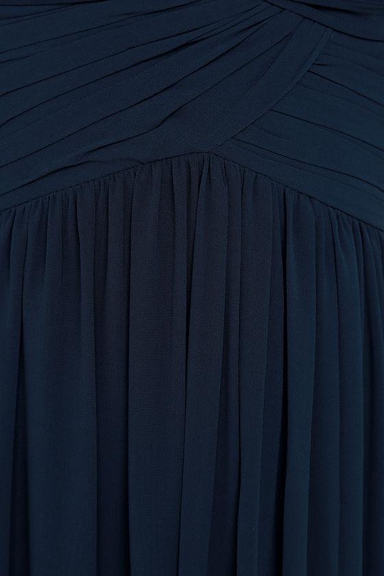 Bariano Ocean of Elegance Navy Blue Maxi Dress 8
