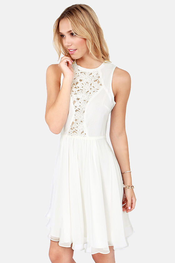 Lumier Wonder Cover Cutout Ivory Dress at Lulus.com!