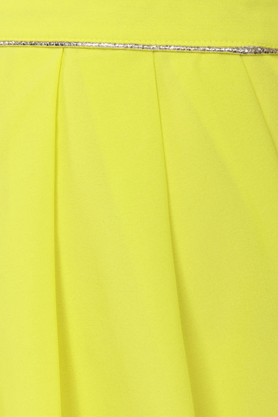 Lumier Candied Citron Chartreuse Yellow Skirt at Lulus.com!