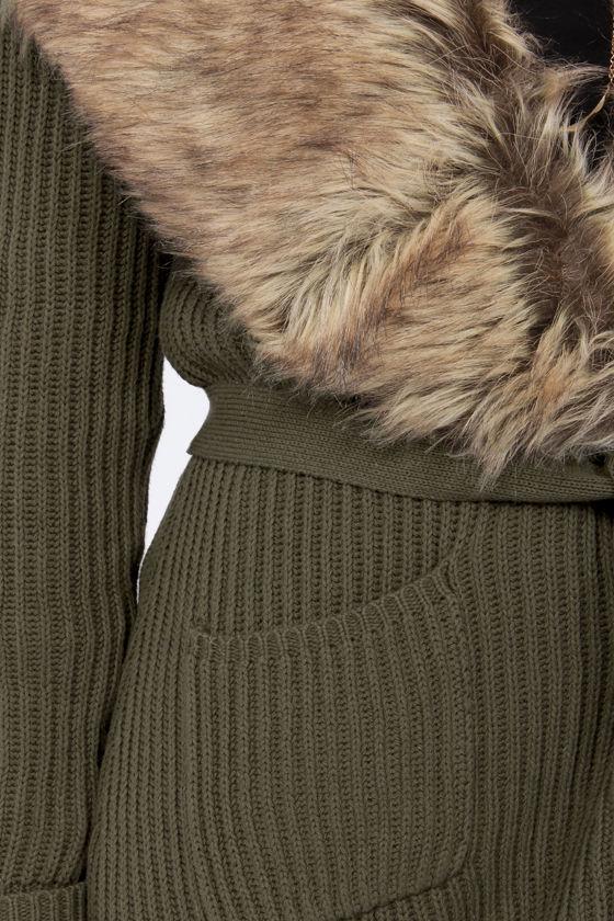 Olive & Oak Forest Spirit Olive Green Sweater at Lulus.com!