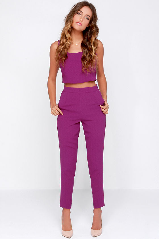 two piece outfit sets Two Piece Set   Purple Outfit   Pants Set   $76.00 two piece outfit sets