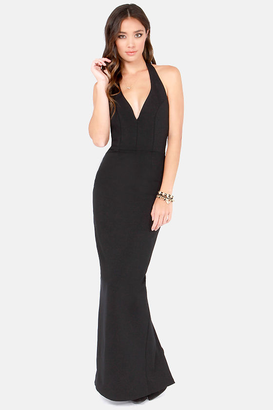 Sexy Black Dress - Bodycon Dress - Maxi Dress - Halter Dress - $49.00