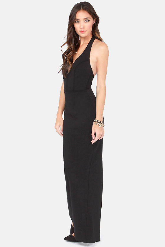 Bundle of Curves Black Bodycon Maxi Dress at Lulus.com!
