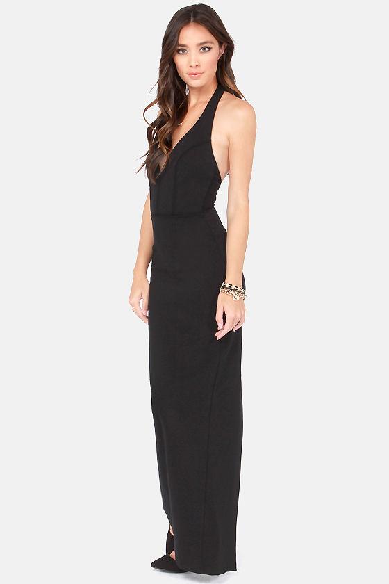 Sexy Black Dress - Bodycon Dress - Maxi Dress - Halter Dress - $49.00