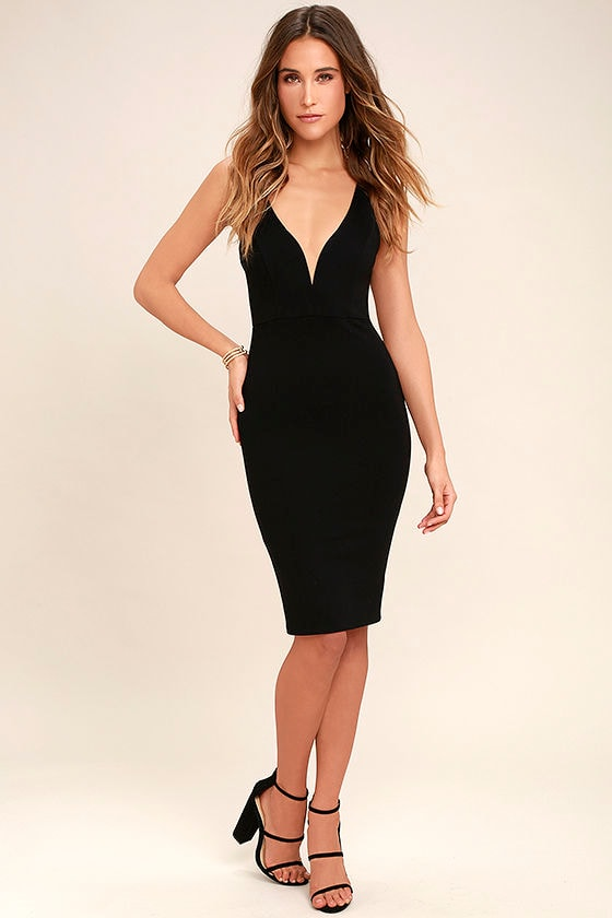 LULUS Exclusive Gracefully Yours Black Dress 4