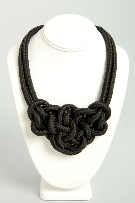 Roped In Black Necklace at Lulus.com!