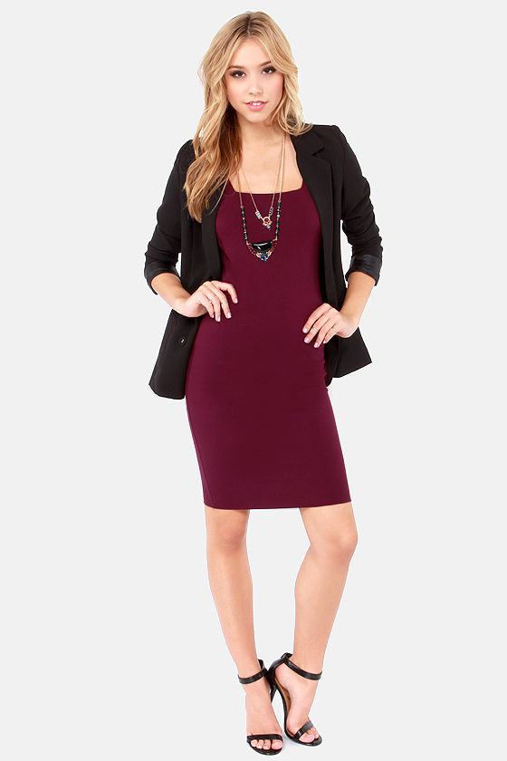 Every Trick in the Book Burgundy Dress at Lulus.com!