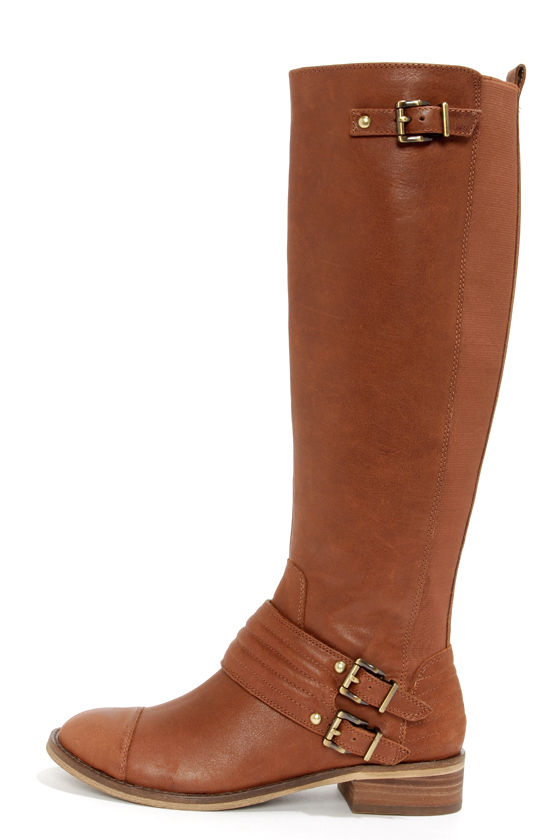 Cute Leather Boots - Riding Boots - Brown Boots - $153.00