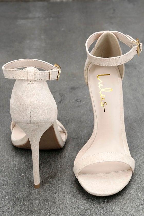 LULUS Elsi Bone Single Strap Heels 3