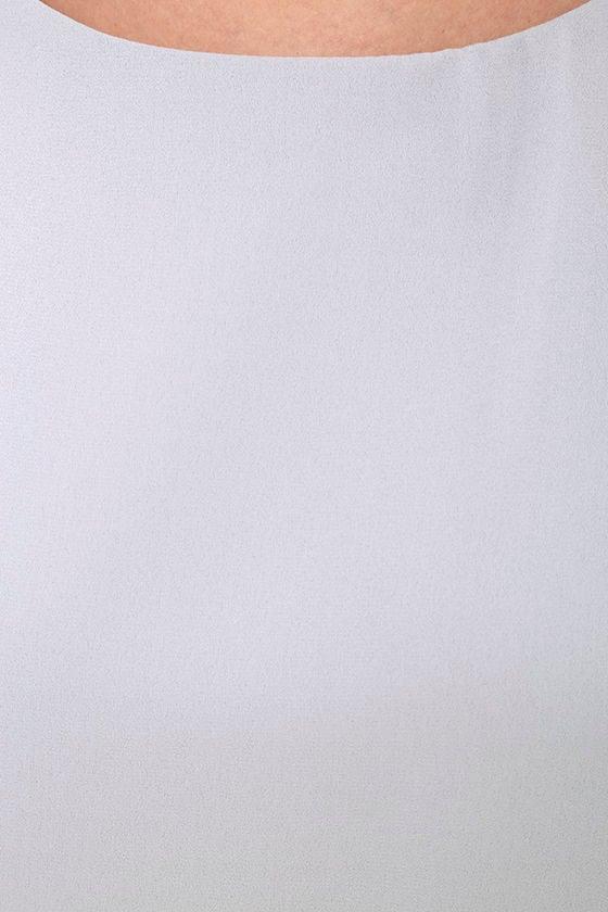 LULUS Exclusive Status Update Light Grey Shift Dress 6