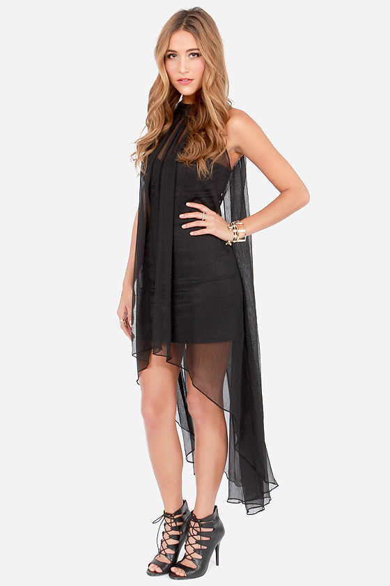 Blaque Label Glance of Romance Black Dress at Lulus.com!