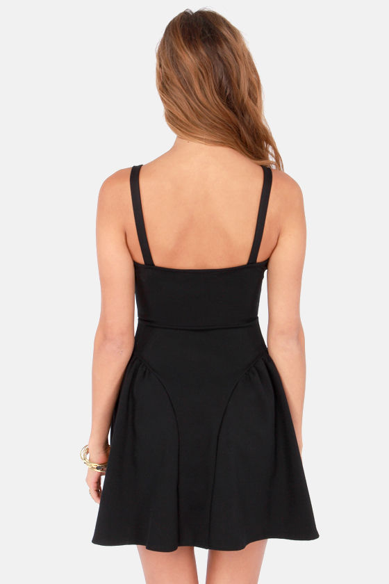 Play it By Panier Black Dress at Lulus.com!
