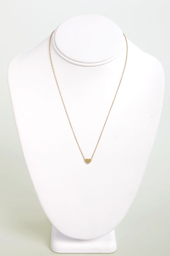 Tiny Heart's Club Gold Heart Necklace at Lulus.com!