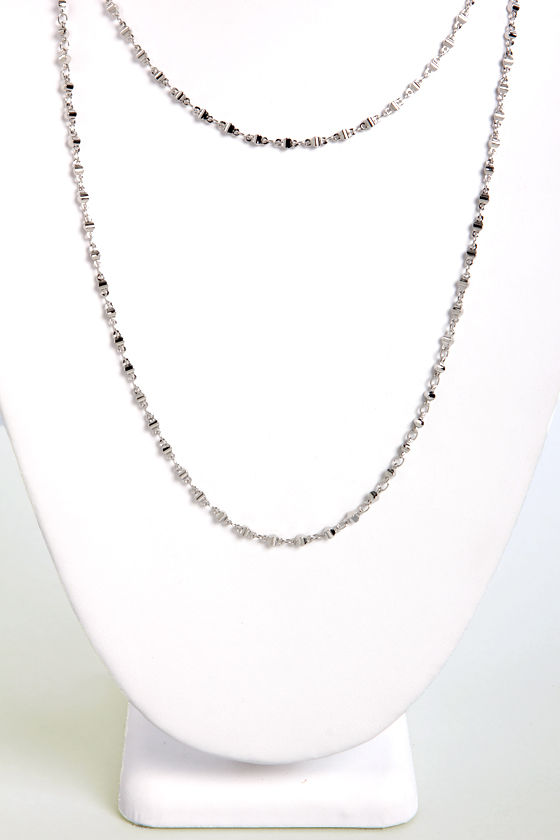 Style File Silver Chain Necklace at Lulus.com!