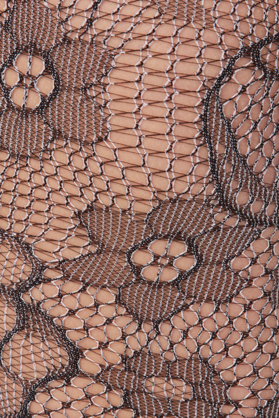 What Rose Around Dark Grey Fishnet Tights at Lulus.com!