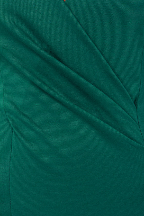 Foreign Film Hunter Green Dress at Lulus.com!