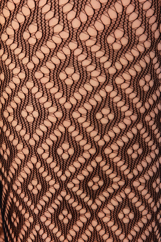 Tight Like a Diamond Black Fishnet Tights at Lulus.com!