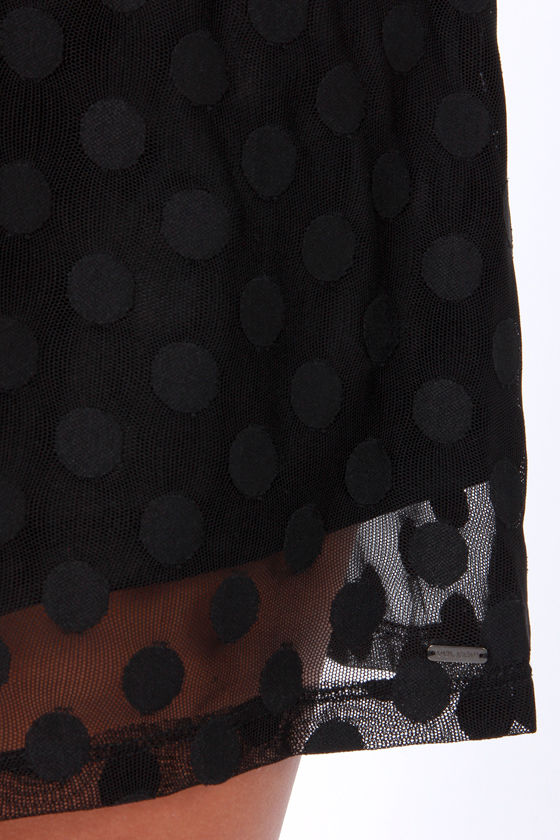 Volcom Let It Roll Black Polka Dot Dress at Lulus.com!