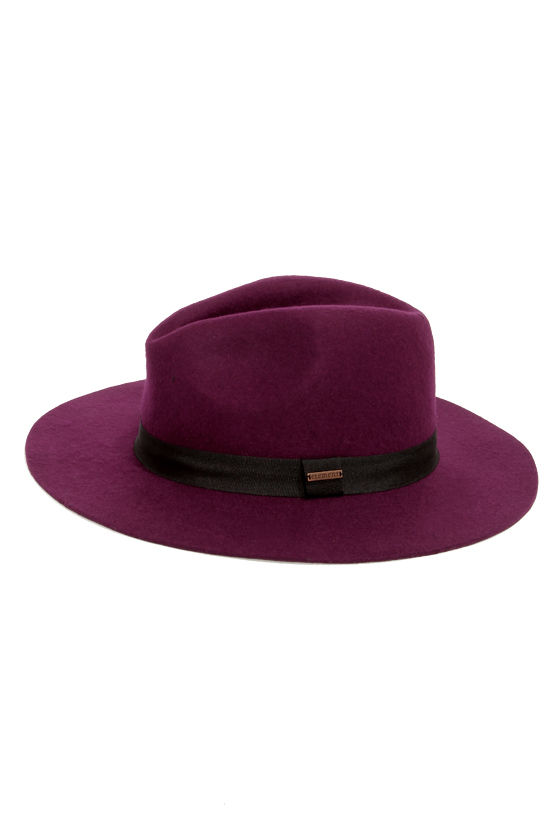 Element Eden Barbara Burgundy Fedora Hat at Lulus.com!