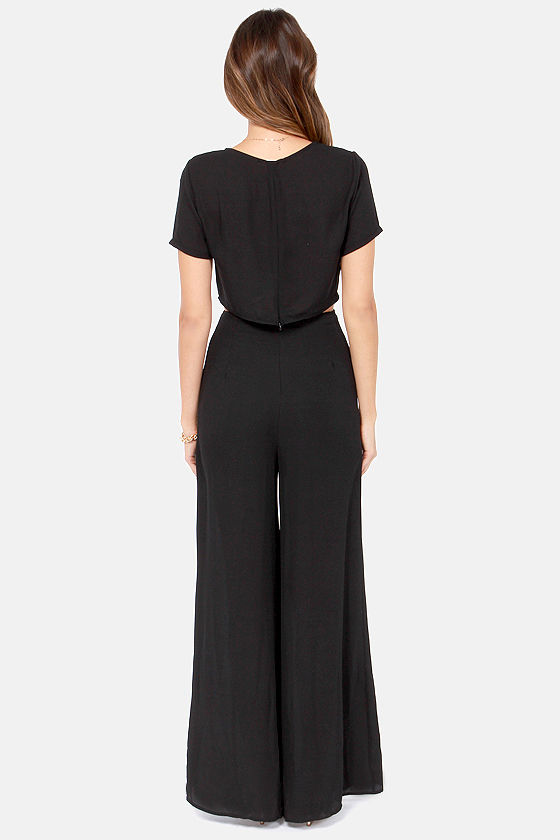 Maximum Heights Cutout Black Jumpsuit at Lulus.com!