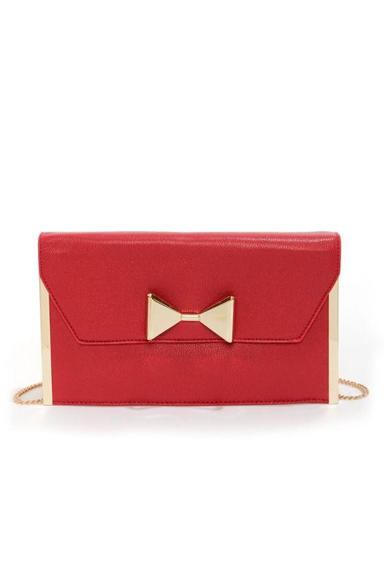 cute red clutch red purse bow purse red handbag 2500