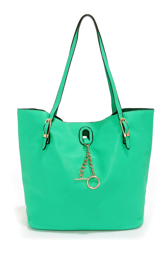Howdy Beauty Sea Green Tote at Lulus.com!