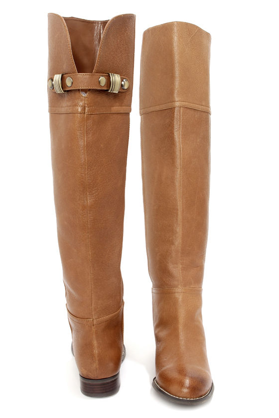 3544e0f93ce Tan Boots - Leather Boots - OTK - Over the Knee Boots -  119.00