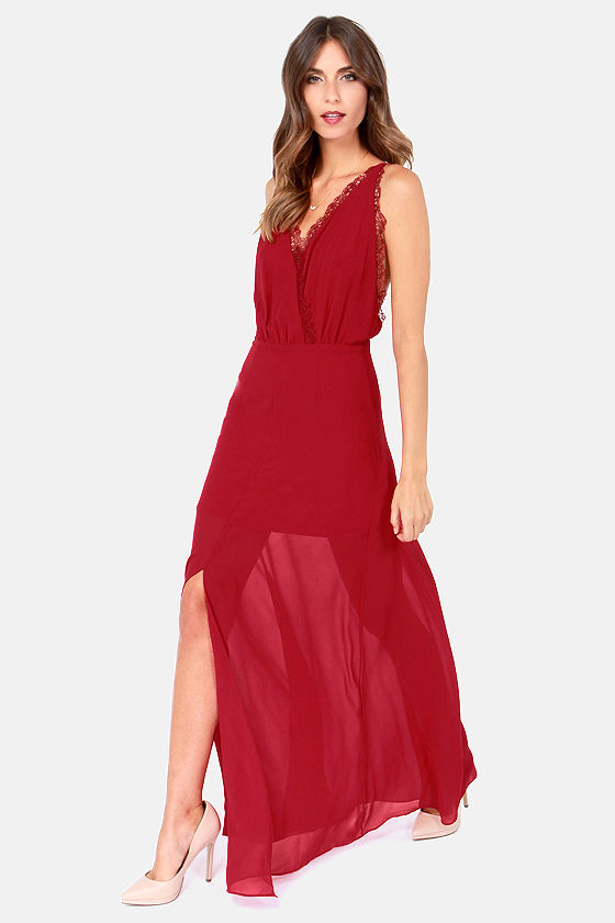 6b5d8287fac5 Sexy Red Dress - Red Maxi Dress - Cocktail Gown - Strapless Dress -  49.00