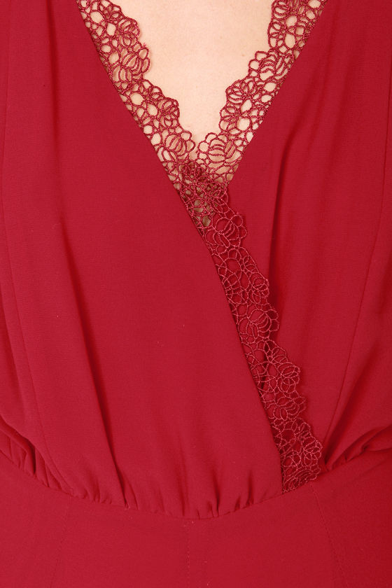 Evening Affair Wine Red Maxi Dress at Lulus.com!