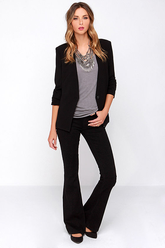 RES Denim Ramble On - Black Jeans - Flare Jeans - Bell Bottom ...
