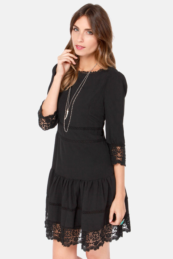 Ankorel Paris Doll House Black Lace Dress at Lulus.com!
