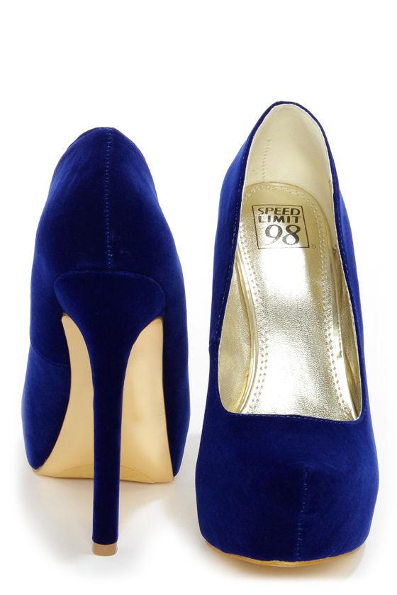 cf01f53e89f7 Sexy Blue Heels - Platform Pumps - Platform Heels -  34.00