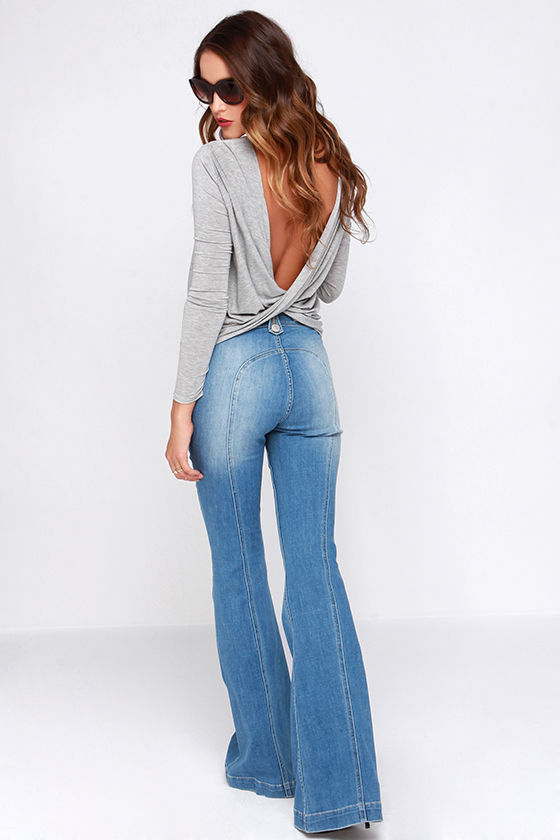 Dittos Amy Jeans - Flare Jeans - Saddleback Jeans - Light Wash Jeans - $89.00