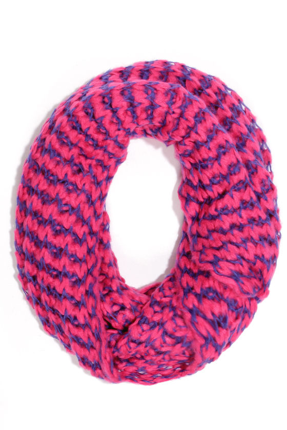 Brainwaves Fuchsia Infinity Scarf at Lulus.com!