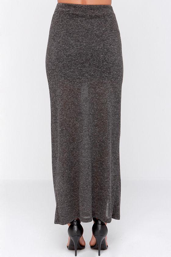 pretty charcoal grey skirt maxi skirt zipper skirt