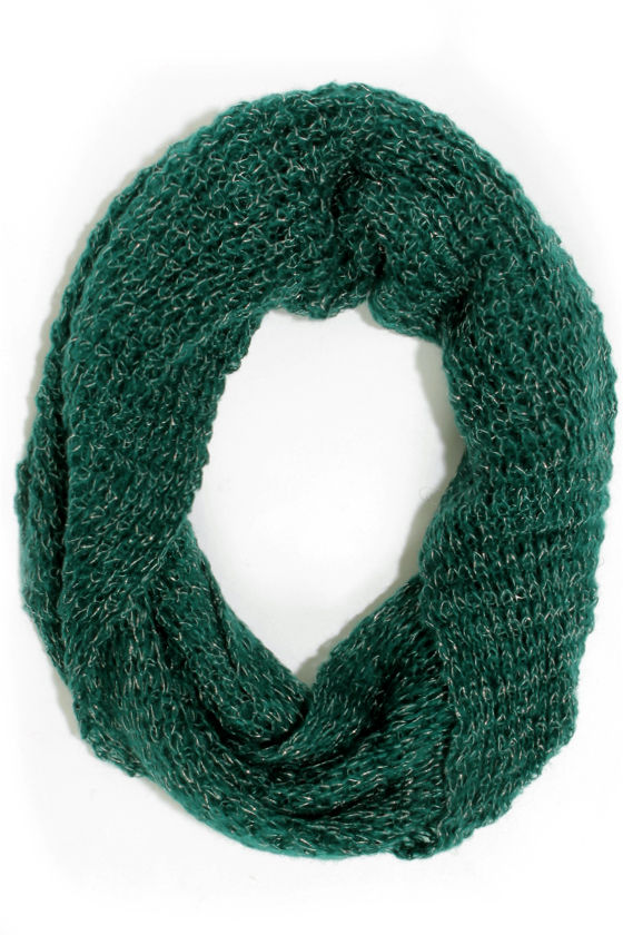 Silver Lining Green Infinity Scarf at Lulus.com!