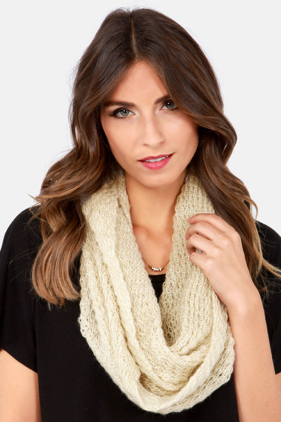 Silver Lining Beige Infinity Scarf at Lulus.com!