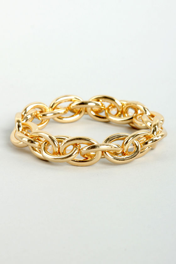 Chain and Fortune Gold Chain Bracelet at Lulus.com!