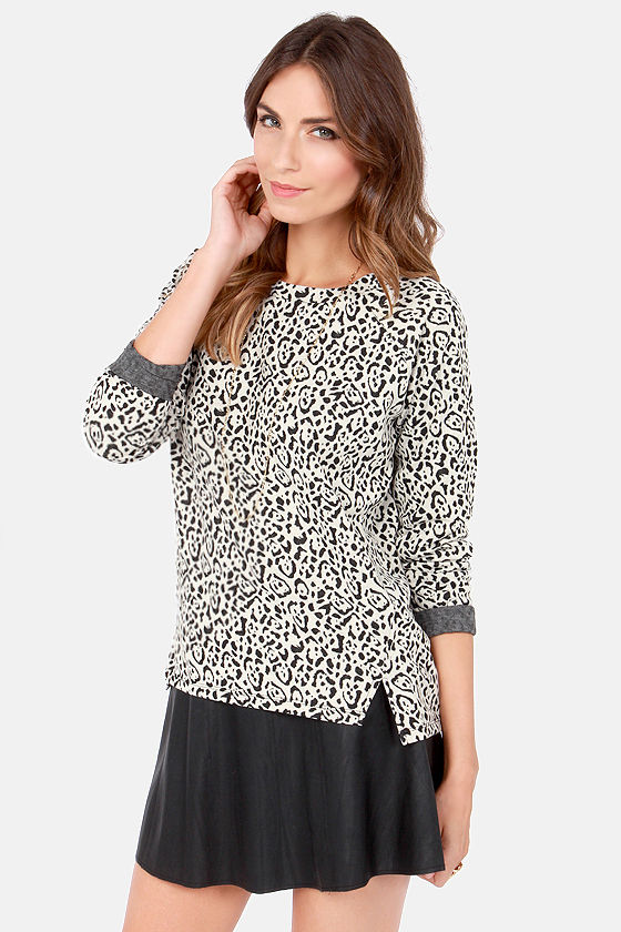 BB Dakota by Jack Dion Animal Print Sweater at Lulus.com!