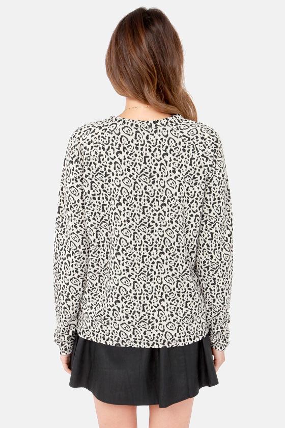 BB Dakota by Jack Dion Animal Print Sweater at Lulus.com!