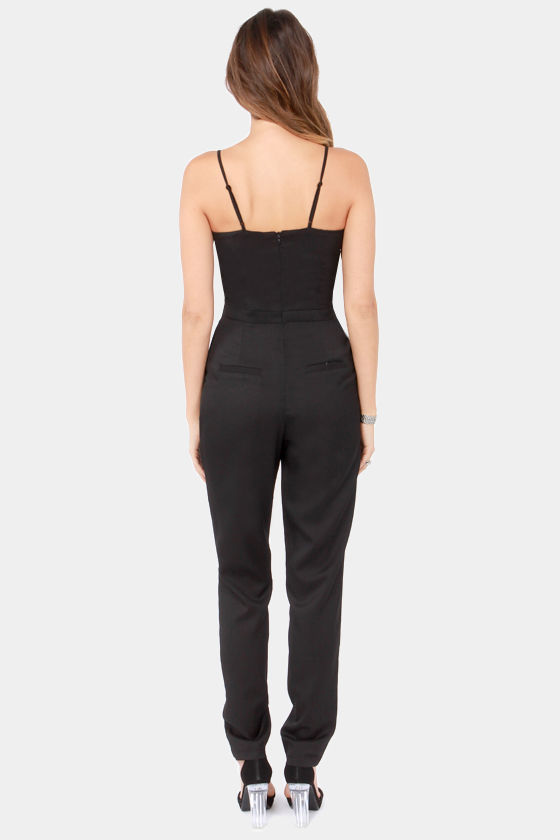 Ground Breaking Black Jumpsuit at Lulus.com!