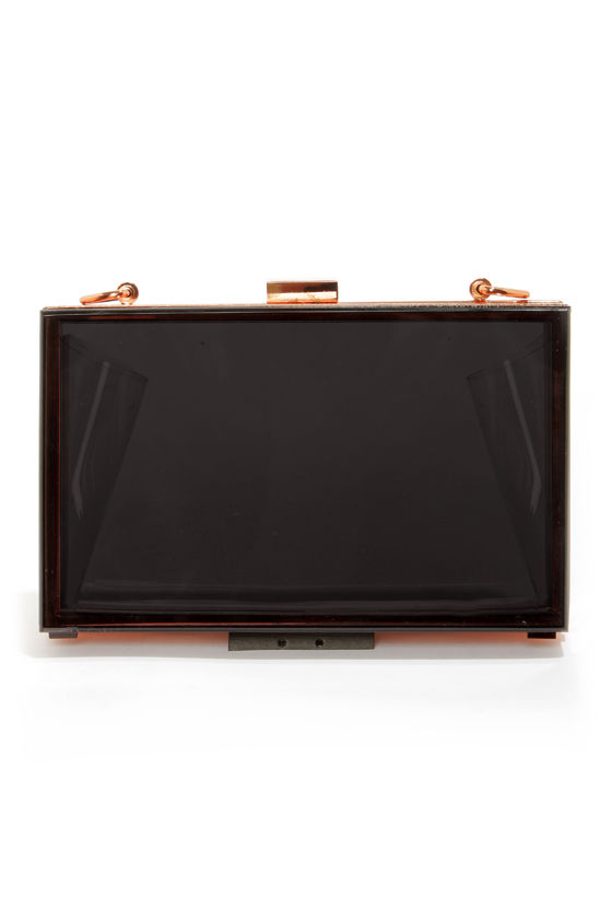 Steer Clear Black Lucite Clutch at Lulus.com!