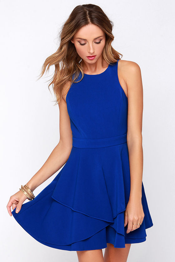 Cute Blue Dress Royal Blue Dress Sleeveless Dress