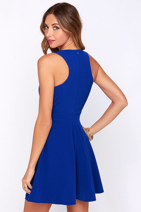 ... royal blue skater dress 95 00 95 00 1 2 3 4 5 color royal blue size