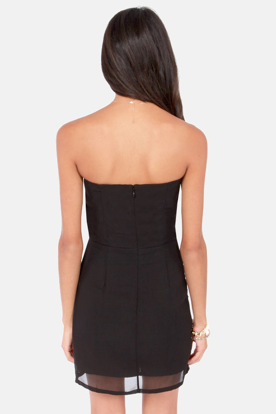 Join the Festivities Strapless Black Sequin Dress at Lulus.com!