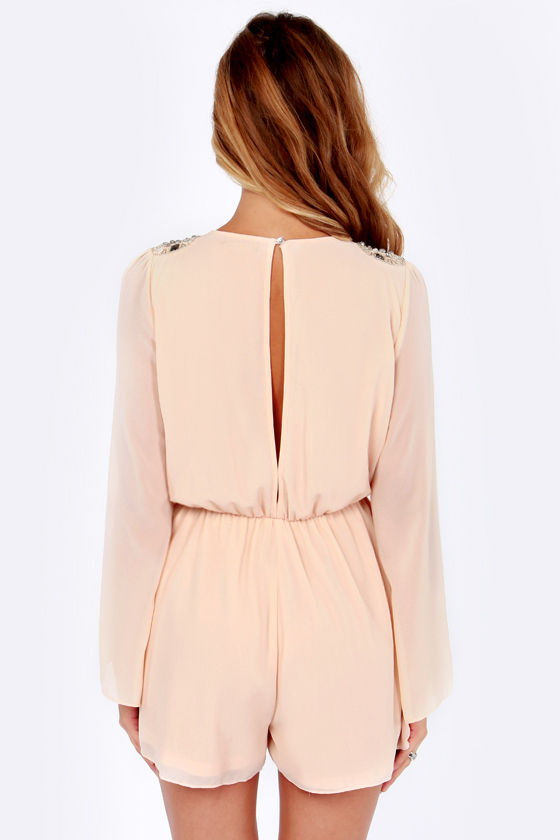 Let's Bead Friends Beaded Blush Romper at Lulus.com!