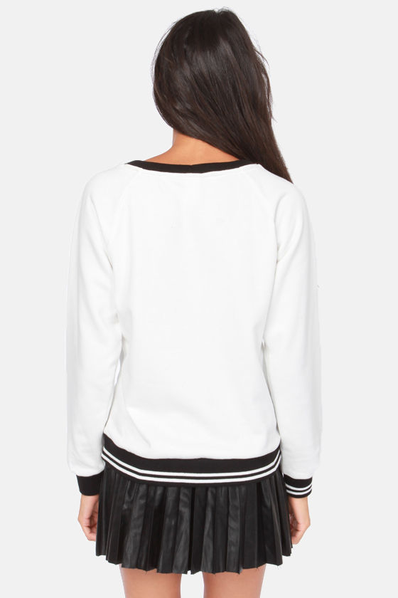 Tonight We're Gonna Party Black and Ivory Sequin Sweater at Lulus.com!
