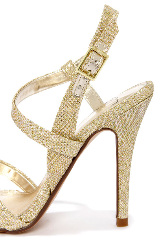 My Delicious Eliza Light Gold Dress Sandals at Lulus.com!