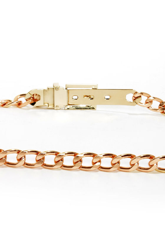 Missing Link Gold Chain Belt at Lulus.com!