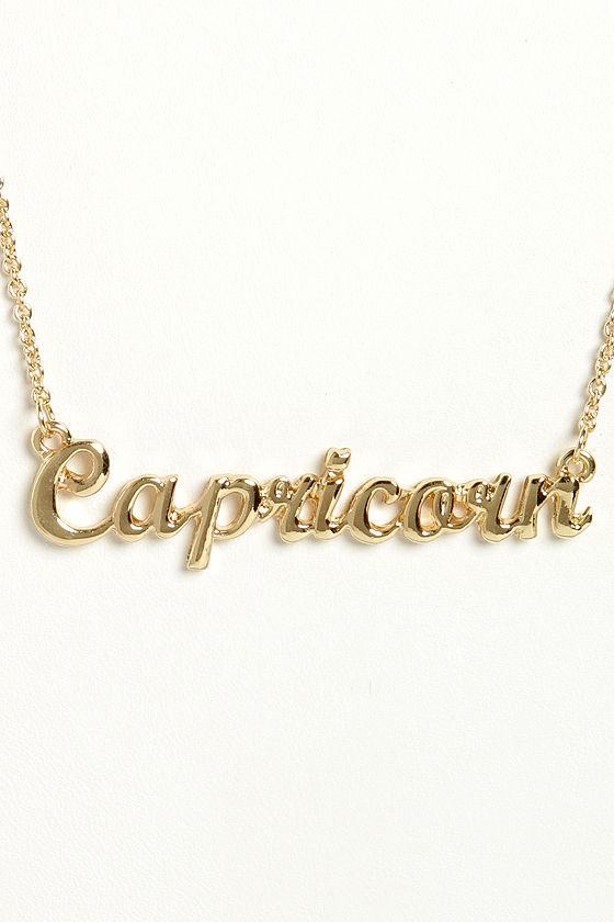 Cute zodiac necklace capricorn necklace gold necklace 1200 aloadofball Choice Image